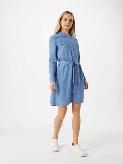 ABOUT YOU Shirt dress 'Arabella' in Blue denim, View model