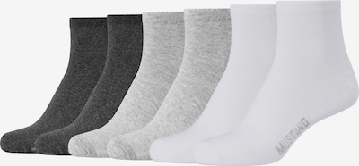 MUSTANG Kurzsocken 'Abigail' in grau / schwarz / weiß, Produktansicht