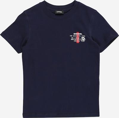 DIESEL Shirt 'DIEGOS' in dunkelblau / rot / weiß, Produktansicht