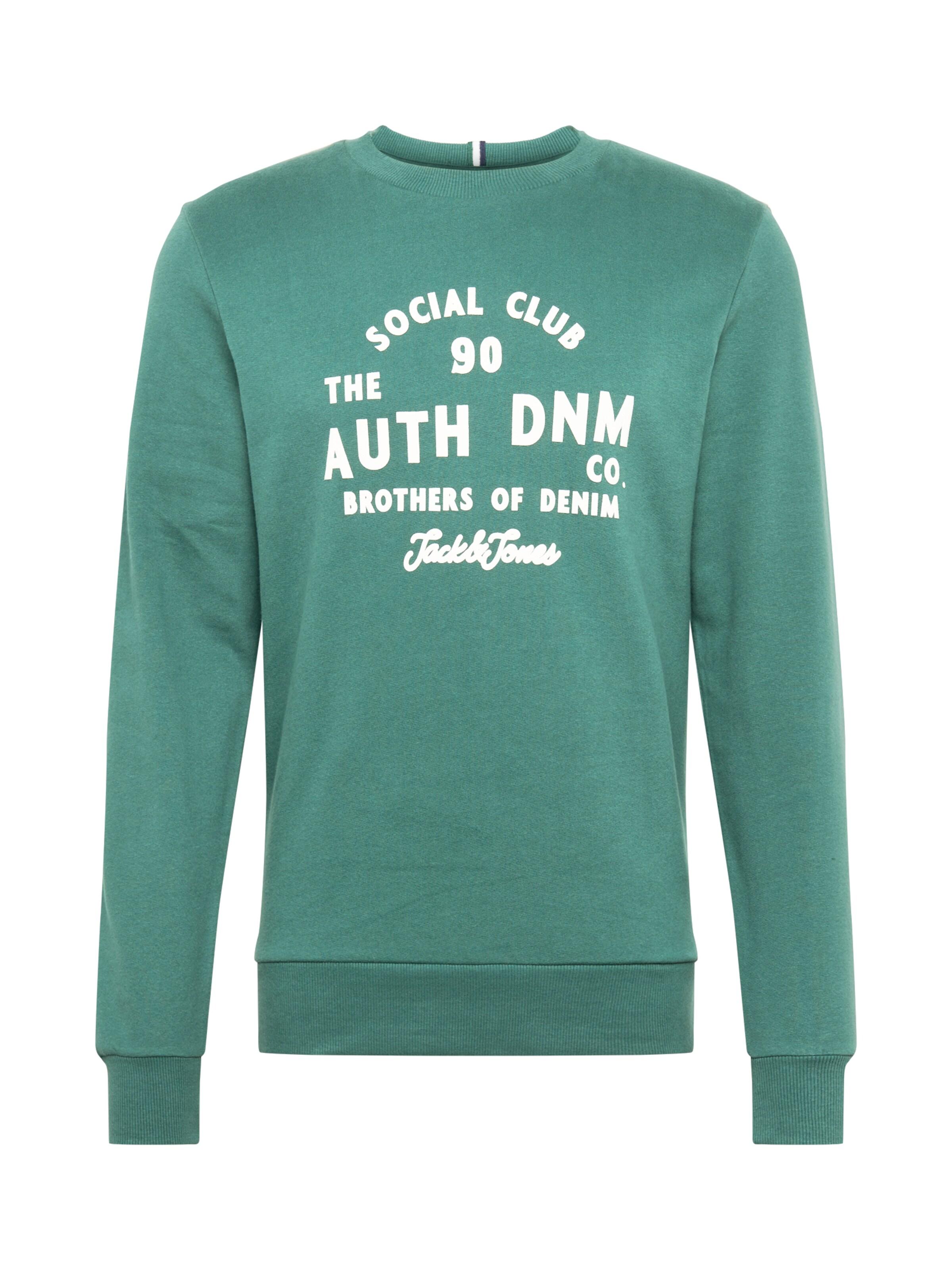 JACK & JONES Sweatshirt i pastellgrön / vit