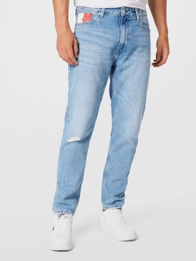 Tommy Jeans Džínsy - svetlomodrá / červená / biela, Model/-ka