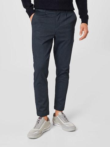 Kronstadt Pleat-front trousers 'Club texture pants' in Blue