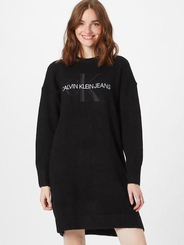 Calvin Klein Jeans Kootud kleit, värv must