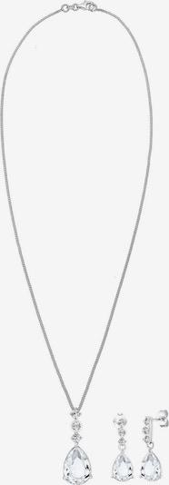 ELLI PREMIUM Conjunto de joyería en plata / blanco, Vista del producto