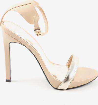 MANGO High Heel Sandaletten in 38 in silber / wollweiß, Produktansicht
