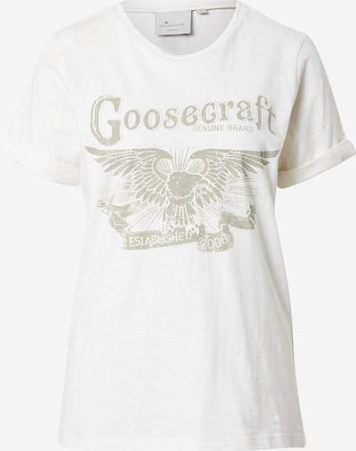 Goosecraft Shirt 'Desert wings' in de kleur Greige / Wit, Productweergave