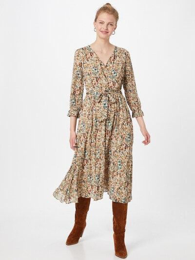 MORE & MORE Kleid in beige / pastellblau / grün / dunkelorange / himbeer, Modelansicht