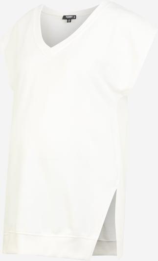 Missguided Maternity T-shirt en crème / blanc, Vue avec produit