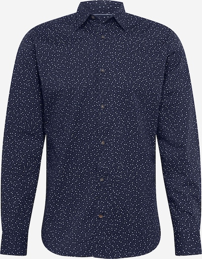 JACK & JONES Hemd 'Jordude' in navy / hellblau, Produktansicht