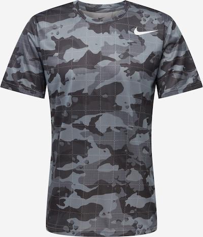 NIKE Sportshirt in grau / anthrazit / graumeliert / weiß, Produktansicht