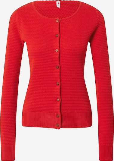 Blutsgeschwister Strickjacke 'Save the Brave' in rot, Produktansicht