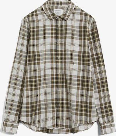 ARMEDANGELS Button Up Shirt in Light grey / Green / Olive, Item view