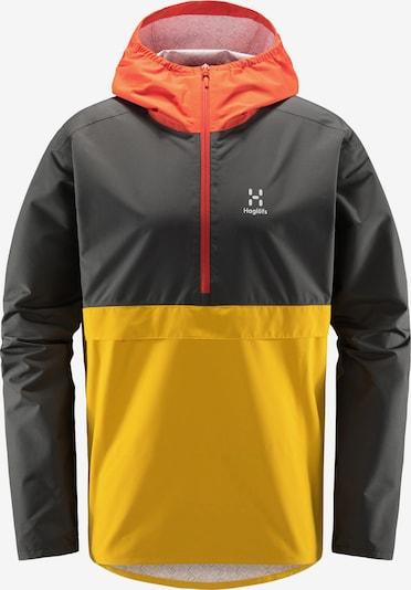 Haglöfs Outdoorjas 'Spira' in de kleur Donkergeel / Grafiet / Sinaasappel, Productweergave