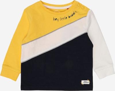 s.Oliver Shirt in nachtblau / gelb / weiß, Produktansicht