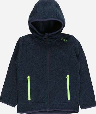 CMP Functionele fleece jas in de kleur Navy / Neongeel, Productweergave