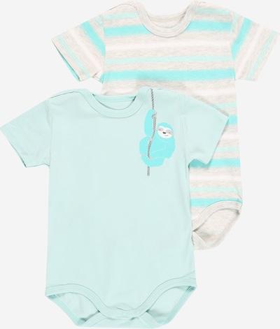 KANZ Pijama entero/body en turquesa / azul claro / gris moteado / blanco, Vista del producto