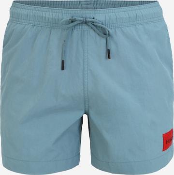 HUGO Badshorts 'DOMINICA' i blå