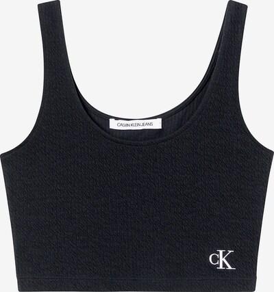 Calvin Klein Jeans Haut en noir / blanc, Vue avec produit