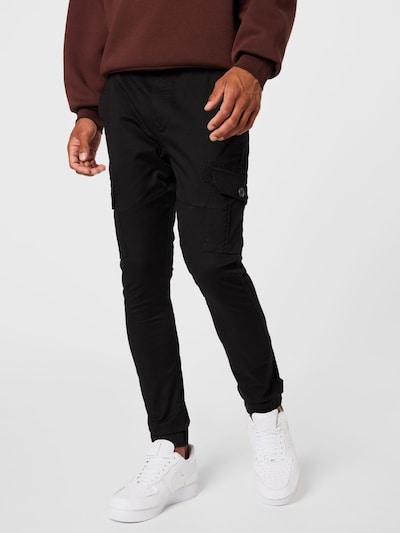 Denim Project Pantalon cargo 'Caka' en noir, Vue avec modèle