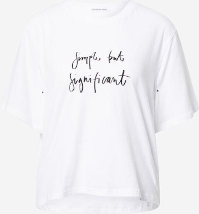 Designers Remix Camiseta 'Stanley' en negro / blanco, Vista del producto