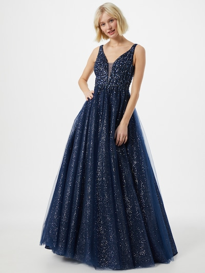 LUXUAR Abendkleid in navy, Modelansicht