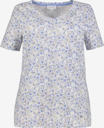 Gina Laura T-Shirt in blau / weiß, Produktansicht