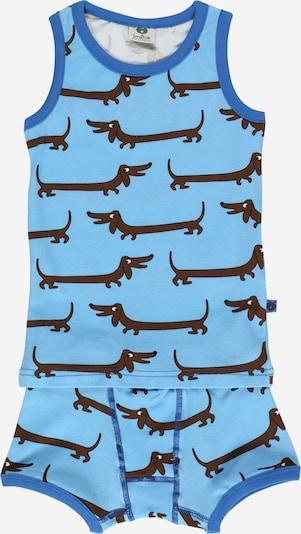 Småfolk Wäsche-Set  'Dog' in himmelblau / hellblau / braun / schwarz / weiß, Produktansicht
