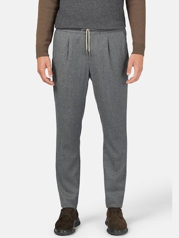 Pantalon à plis Boggi Milano en gris