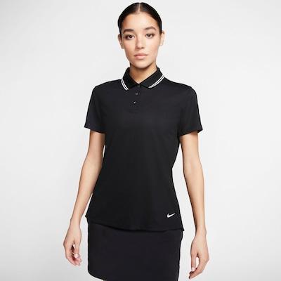 NIKE Poloshirt 'Victory' in schwarz / weiß: Frontalansicht
