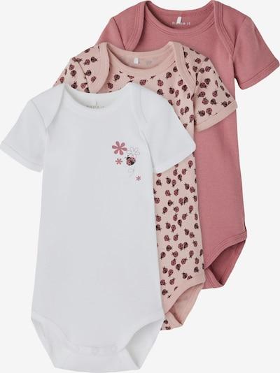 NAME IT Body in rosé / altrosa / schwarz / weiß, Produktansicht