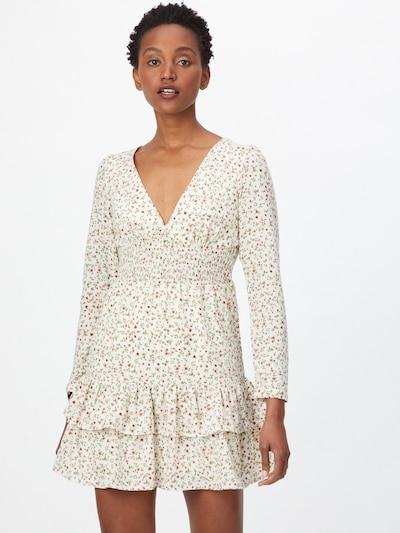 Fashion Union Kleid 'WARREN' in beige / grün / rot / weiß, Modelansicht