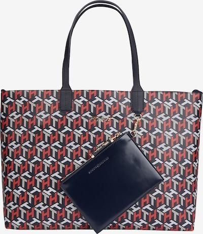 Pirkinių krepšys iš TOMMY HILFIGER, spalva – tamsiai mėlyna / šviesiai pilka / raudona / balta, Prekių apžvalga