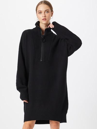 DIESEL Gebreide jurk 'DELA' in de kleur Zwart, Modelweergave