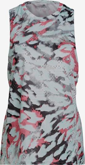 ADIDAS PERFORMANCE Sporttop in anthrazit / stone / pastellgrün / pitaya, Produktansicht