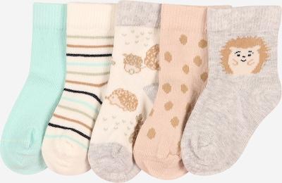 NAME IT Sokken 'KARLO' in de kleur Beige / Crème / Turquoise / Grijs gemêleerd / Wit, Productweergave