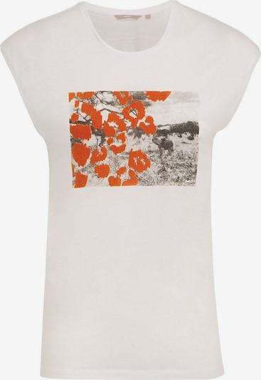 MEXX Shirt in dunkelorange / schwarz / offwhite, Produktansicht