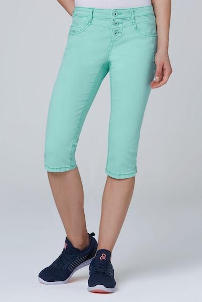 Soccx Coloured Capri Jeans LY:IA mit Knopfleiste in blau, Modelansicht