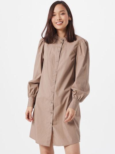 PIECES Kleid in dunkelgrau, Modelansicht