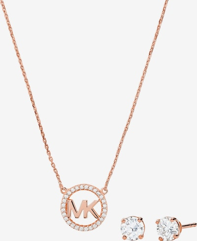 Set de bijuterii Michael Kors pe auriu - roz, Vizualizare produs
