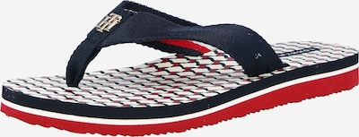 TOMMY HILFIGER Zehentrenner in nachtblau / rot / weiß, Produktansicht