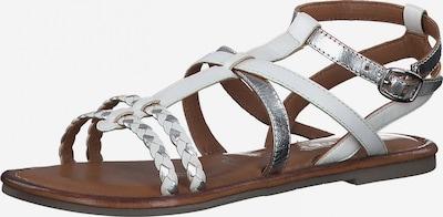TAMARIS Remienkové sandále - strieborná / biela, Produkt