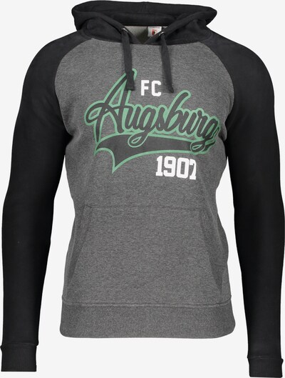 FC Augsburg Sweatshirt in grau / grün / schwarz, Produktansicht