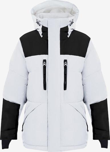 Finn Flare Daunenmantel in schwarz / weiß, Produktansicht