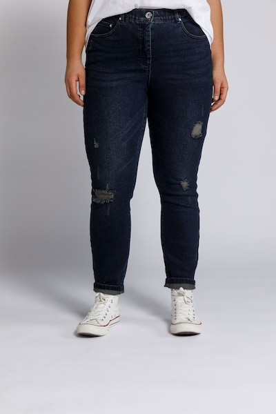 Studio Untold Jeans in blue denim, Modelansicht