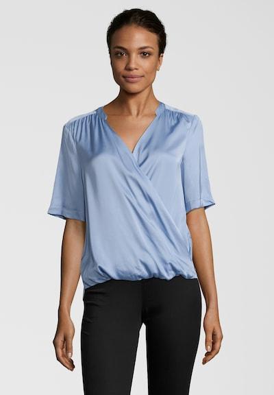 SCOTCH & SODA Shirtbluse mit V-Ausschnitt in blau, Modelansicht