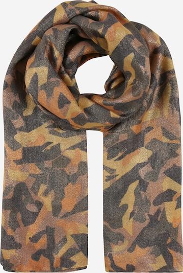 PIECES Sjaal in de kleur Bruin / Goudgeel / Zwart, Productweergave