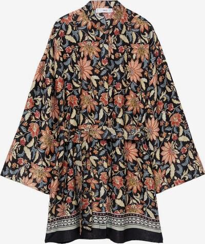 MANGO Kimono in blau / rosa / schwarz / weiß, Produktansicht