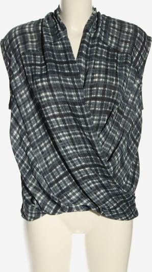 MANGO Schlupf-Bluse in S in blau / weiß, Produktansicht