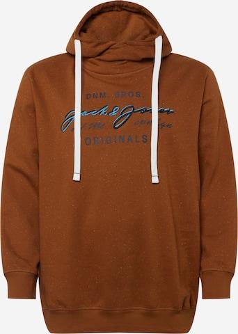 Felpa di Jack & Jones Plus in marrone