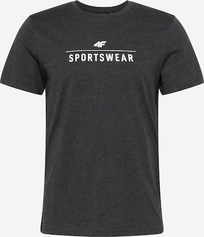 4F Sportshirt in graumeliert / weiß, Produktansicht